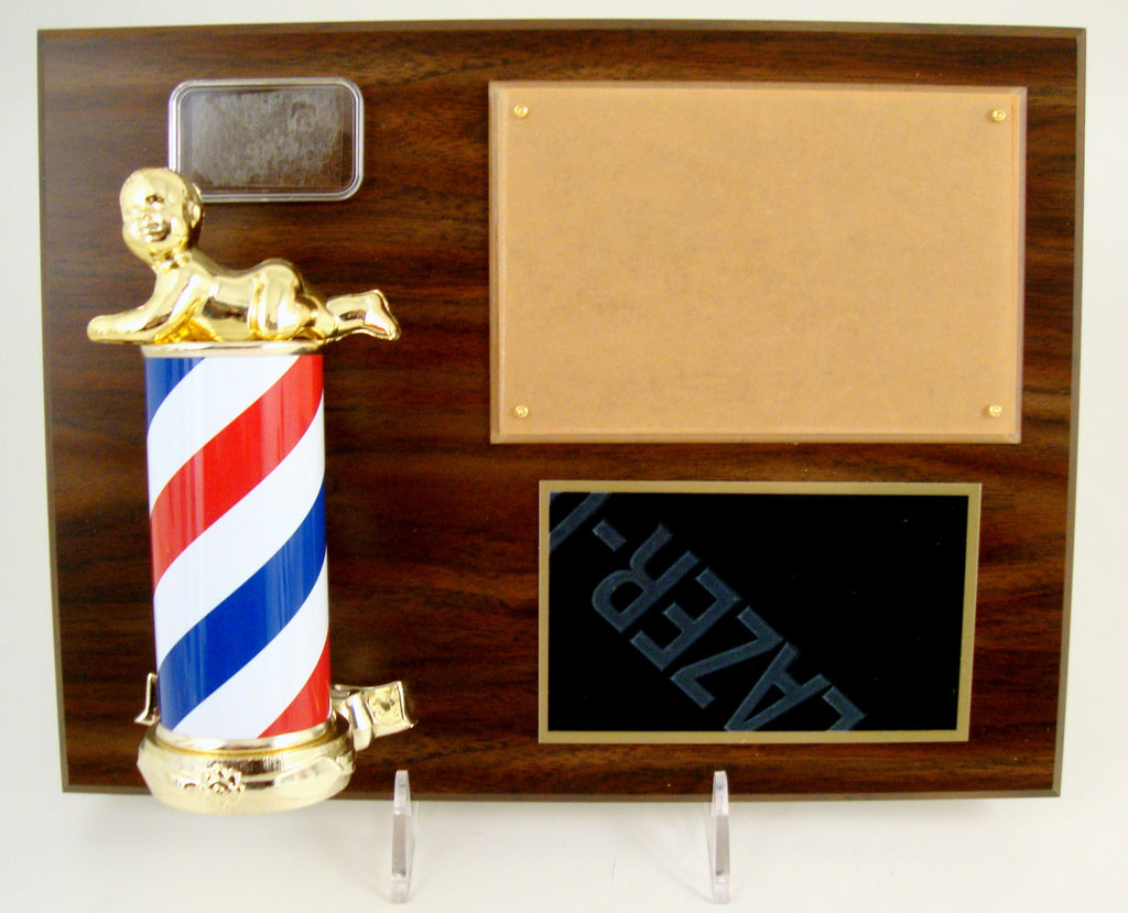 Barber Column Trophy With Logo