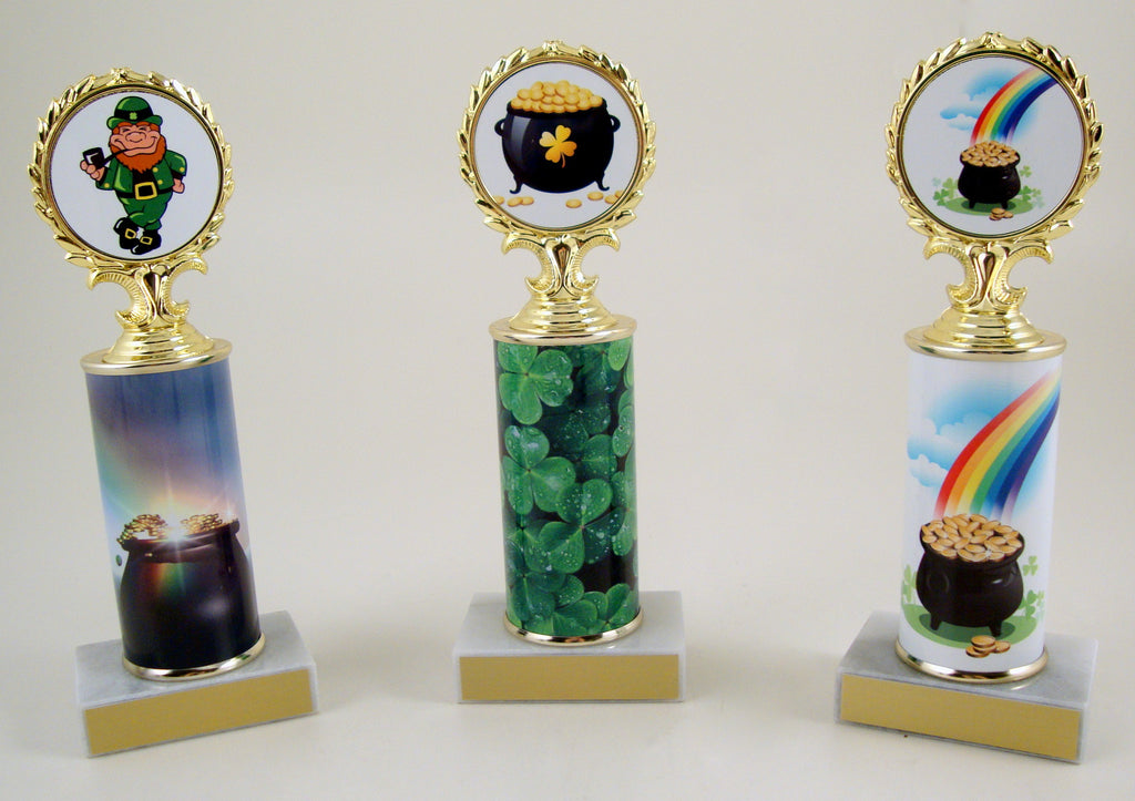 St. Patrick's Day Custom Roll Column Trophy