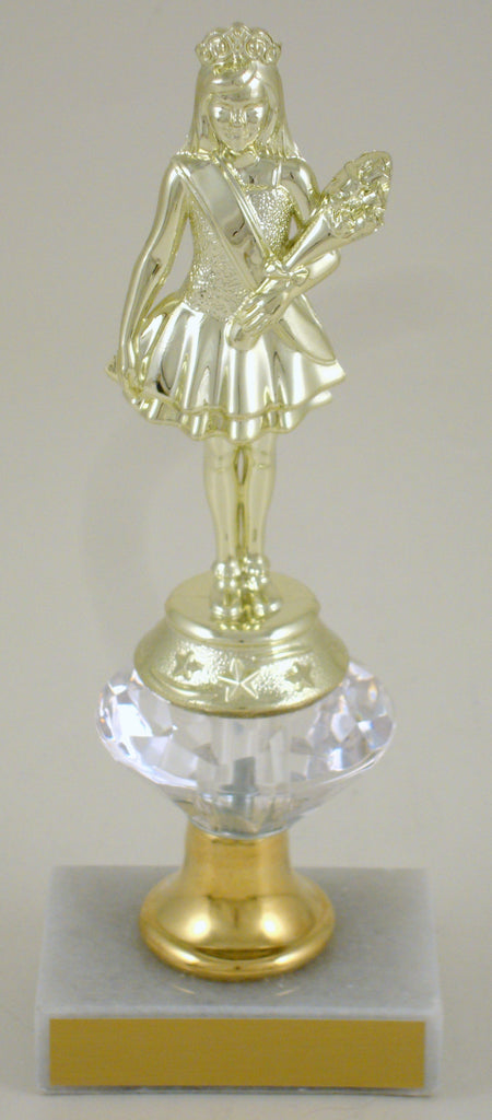 Pageant Junior Marble Trophy With Bell Riser