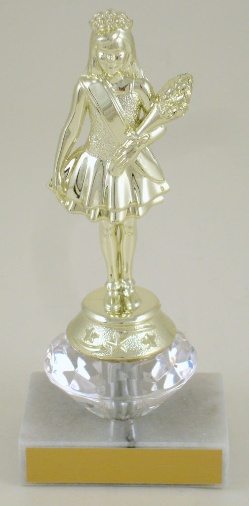 Pageant Junior Marble Trophy With Diamond