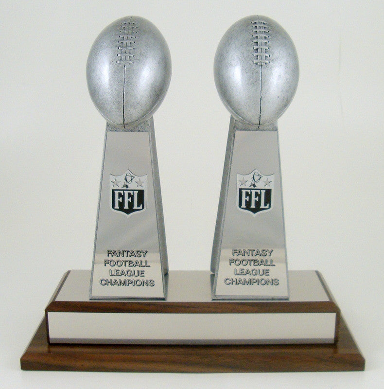 Fantasy Football Double Championship Trophy