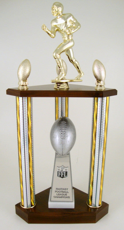 Fantasy Football Championship 3 Column Trophy-Trophies-Schoppy's Since 1921