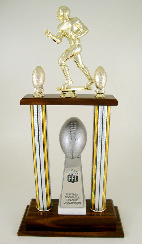 Fantasy Football Championship 2 Column Trophy-Trophies-Schoppy's Since 1921