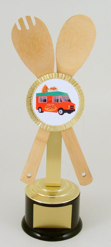 Wooden Utensil Food Truck Trophy-Trophy-Schoppy's Since 1921