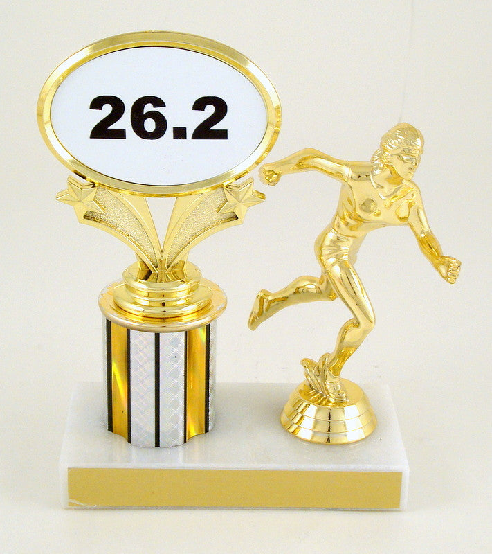 Distance Running Trophy With Runner Figure