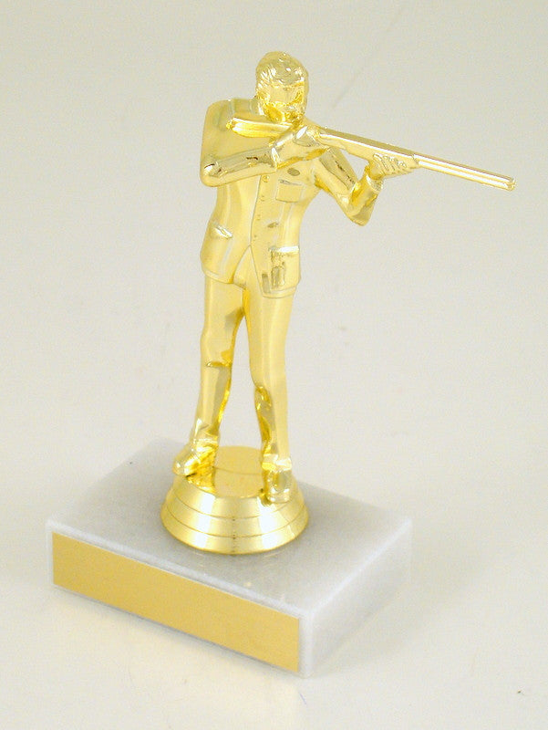 Trapshooter Trophy on Marble Base