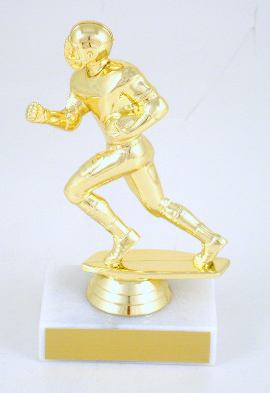 Football Runner Trophy on Marble Base