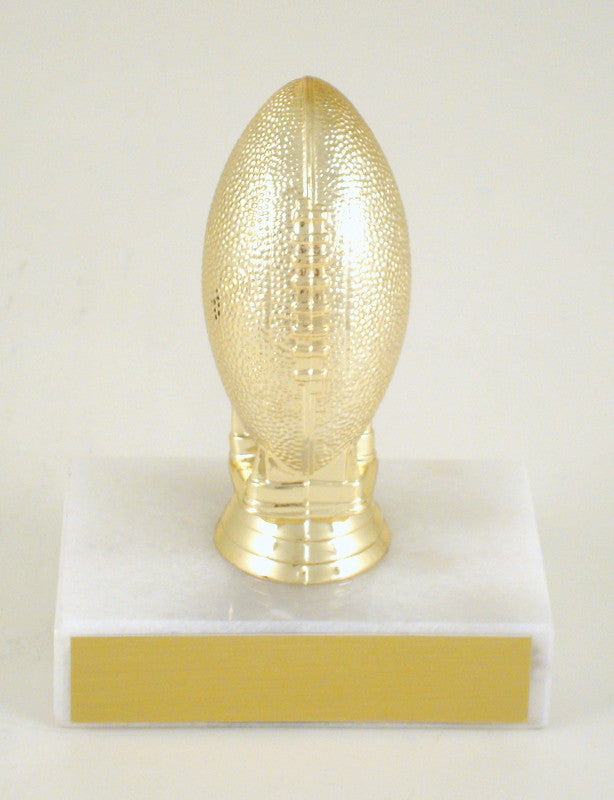 Small Football Trophy on Marble