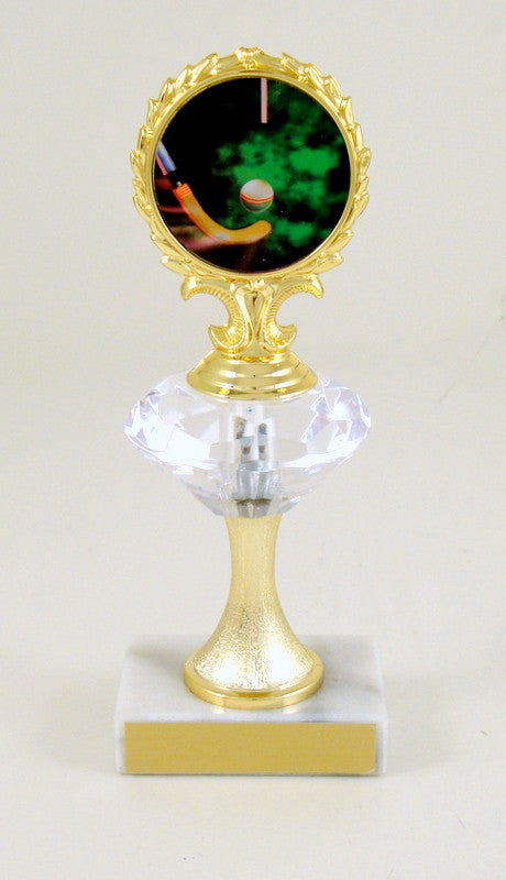Field Hockey Trophy Diamond Riser with Logo-Trophy-Schoppy's Since 1921