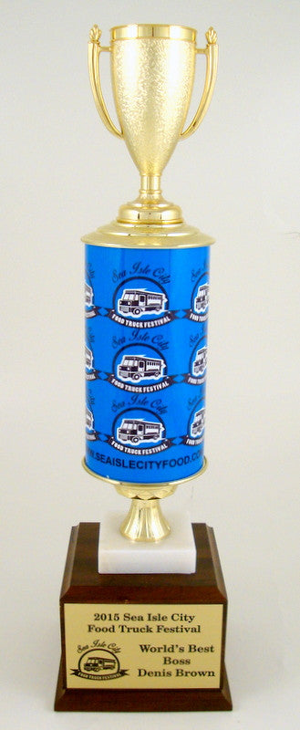 Food Truck Roll Column Trophy-Trophy-Schoppy's Since 1921