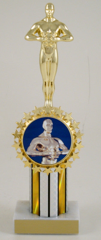 Achievement Trophy Column With Badge