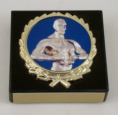 Achievement Paperweight on Black Marble-Paperweight-Schoppy's Since 1921
