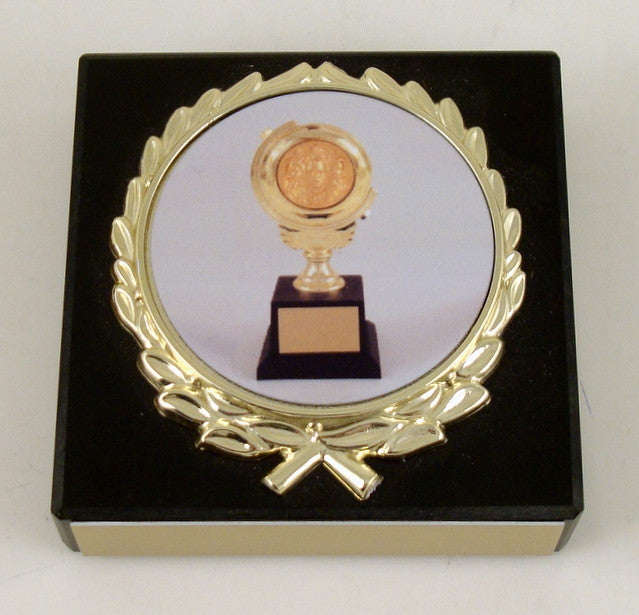Toni Award Paperweight on Black Marble-Paperweight-Schoppy's Since 1921