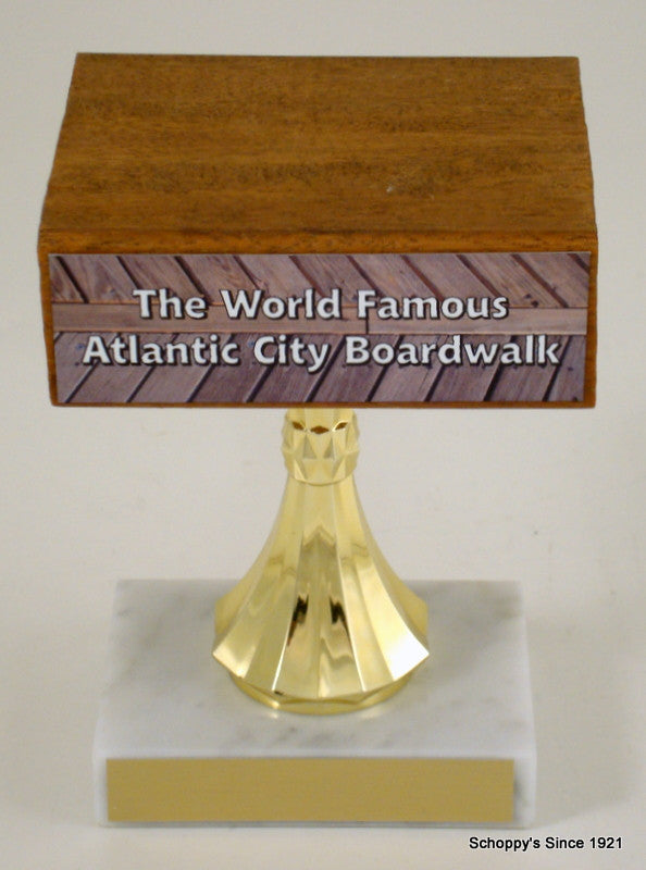 Genuine Atlantic City Boardwalk Trophy - Small-Trophy-Schoppy's Since 1921