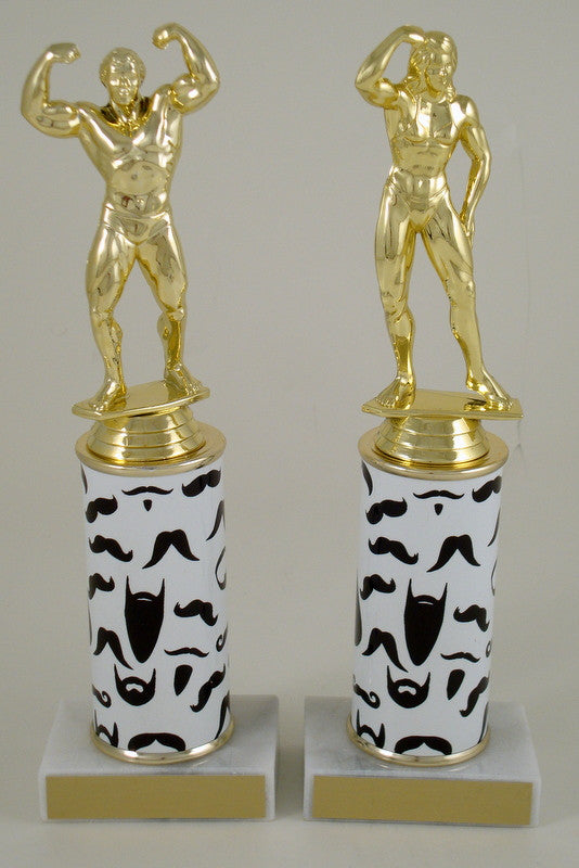 Underarm Hair Beard and Mustache Column Trophy