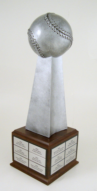 Baseball Championship Large Resin Trophy On Perpetual Base-Trophy-Schoppy's Since 1921