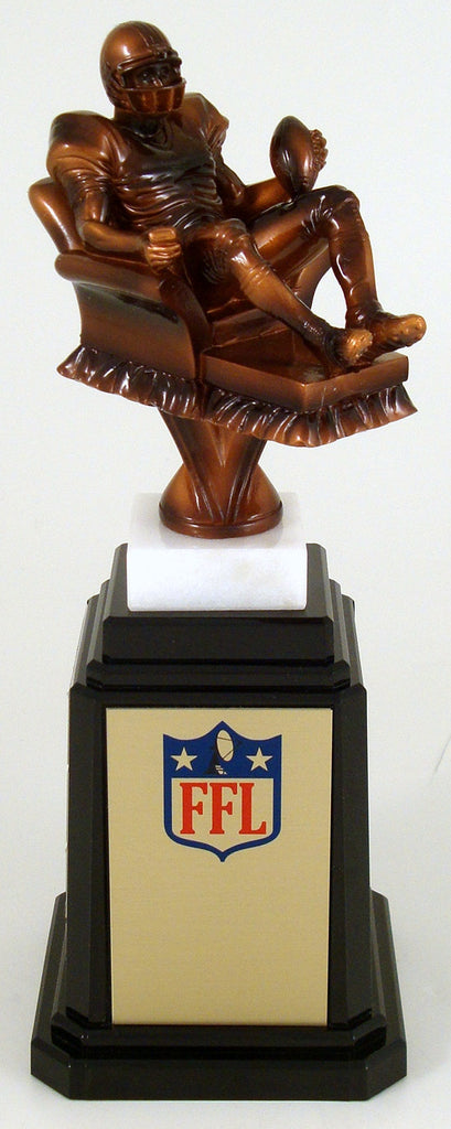 Fantasy Football Recliner On a Tower Base Trophy