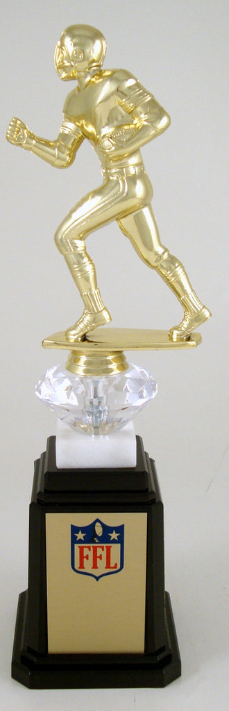 Fantasy Football Runner Figure Tower Base Trophy