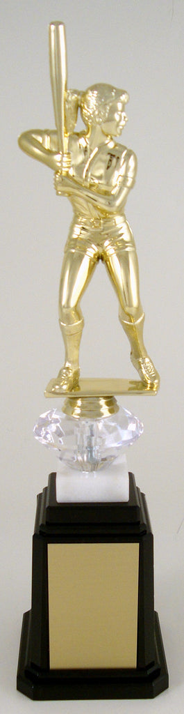 Softball Figure Tower Base Trophy