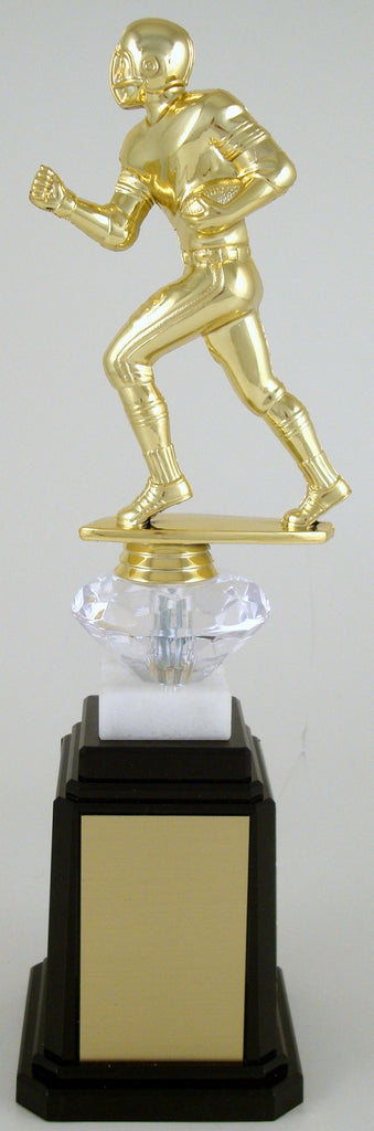 Football Runner Figure Tower Base Trophy