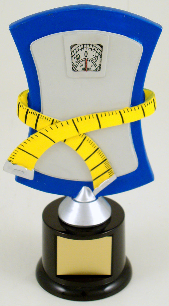 Weight Loss Scale Trophy On Black Round Base