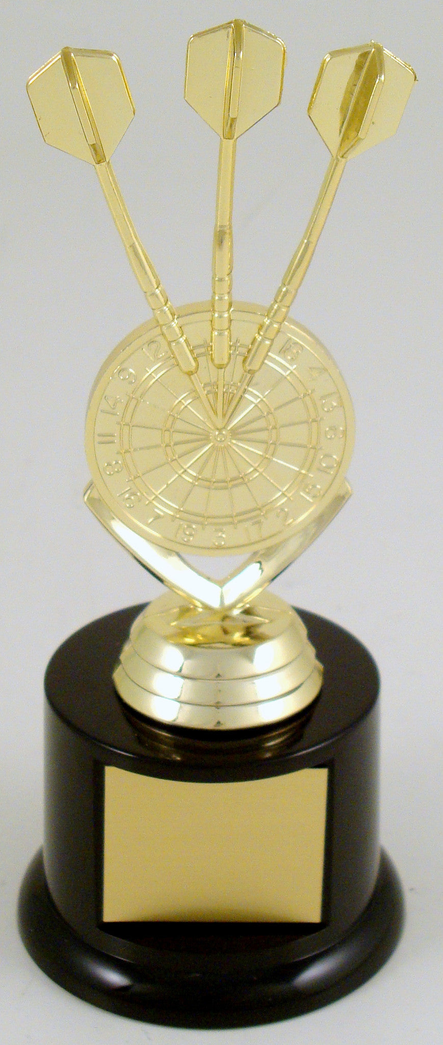 Darts Triple Bullseye Trophy On Black Round Base-Trophy-Schoppy's Since 1921