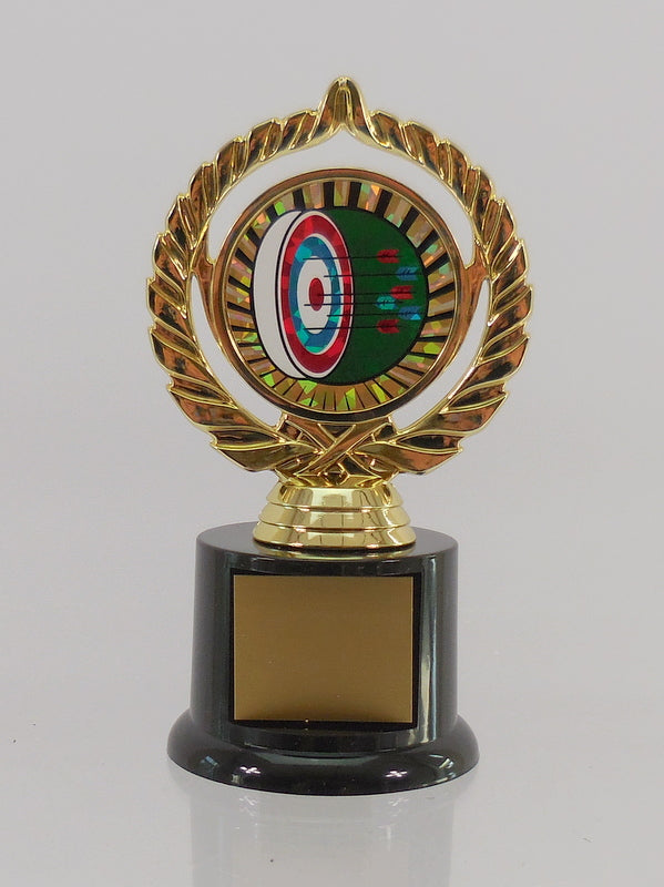 Archery Trophy On Black Round Base