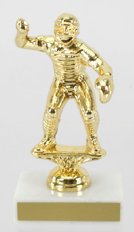 Baseball Catcher Metal Figure Trophy-Trophy-Schoppy's Since 1921