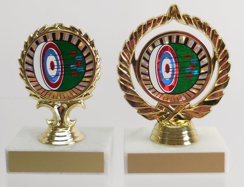 Archery Logo Trophy on Marble Base