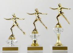 Ice Skating Diamond Riser Trophy - Small, Medium & Large-Trophy-Schoppy's Since 1921