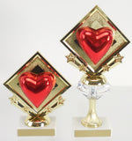 Diamond Star Heart Trophy-Trophies-Schoppy's Since 1921