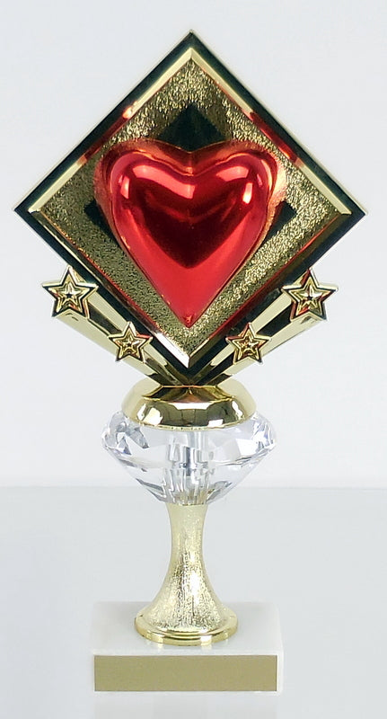 Diamond Riser Star Heart Trophy
