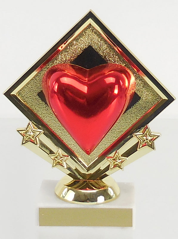 Diamond Star Heart Trophy