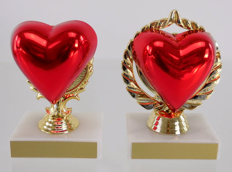 Heart Trophy, Small, Large