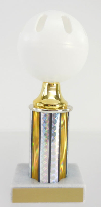 Wiffle Ball Trophy with Column on Marble Base