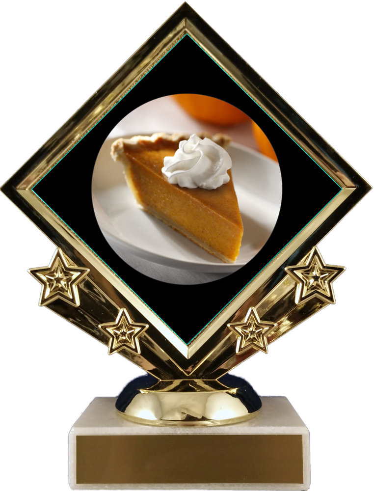 Pie Logo Diamond Trophy
