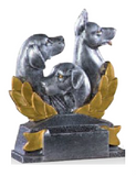 Dog Laurel Resin Trophy-Trophies-Schoppy's Since 1921