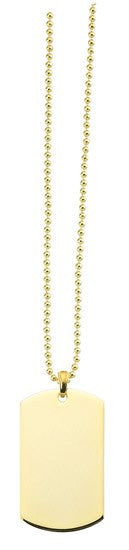 Dog Tag Necklace - Gold plated