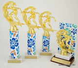 Hawaiian Flower Trophy with Original Metal Roll Column-Trophies-Schoppy's Since 1921