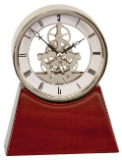 Executive Gold & Rosewood Piano Finish Clock-Clock-Schoppy's Since 1921