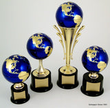 Earth Day Globe Riser Trophy with Spinning Action-Trophies-Schoppy's Since 1921