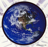 Earth Day Logo on White Marble Paperweight-Trophies-Schoppy's Since 1921