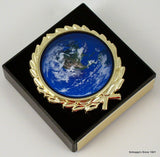 Earth Day Logo on Black Marble Paperweight-Trophies-Schoppy's Since 1921