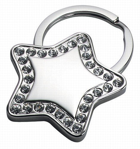 Star Key Chain With Crystal-Key Chain-Schoppy's Since 1921