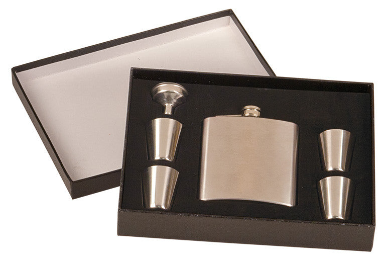 Laserable Flask Set with Presentation Box