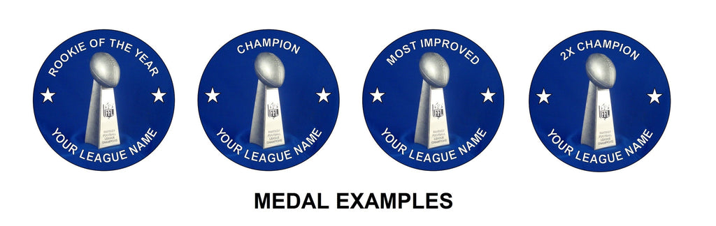 Fantasy Football Custom Message Medal