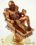 Fantasy Football Recliner Trophy on Black Marble and Wood Base-Trophies-Schoppy's Since 1921