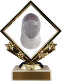 Fencing Logo Diamond Trophy-Trophy-Schoppy's Since 1921