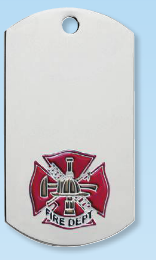 Fire Department Dog Tag Necklace-Jewelry-Schoppy's Since 1921