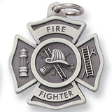 Firefighter Sculptured Genuine Pewter Key Chain-Key Chain-Schoppy's Since 1921